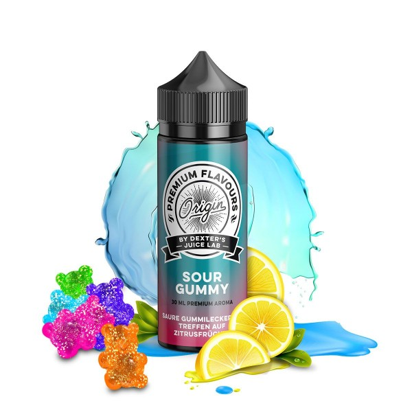 Dexter's Juice Lab - Origin - Sour Gummy - 30ml Aroma (Longfill)